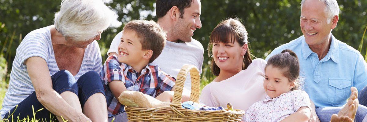 Familienpicknick an der frischen Luft