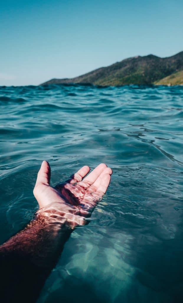 sauberes klares Wasser